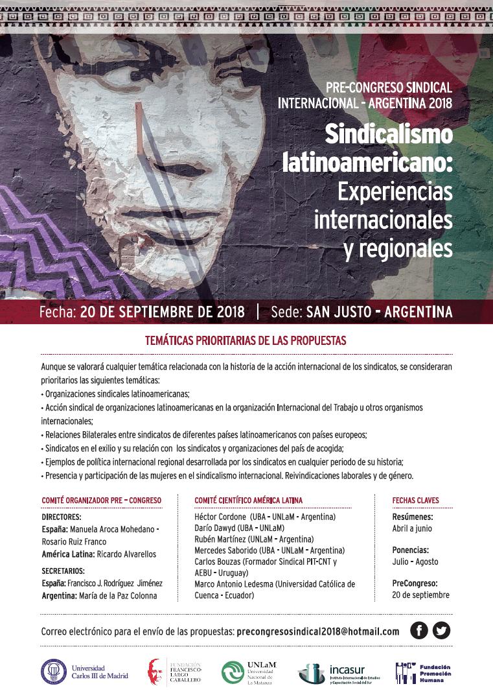 Sindicalismo latinoamericano: experiencias internacionales y regionales