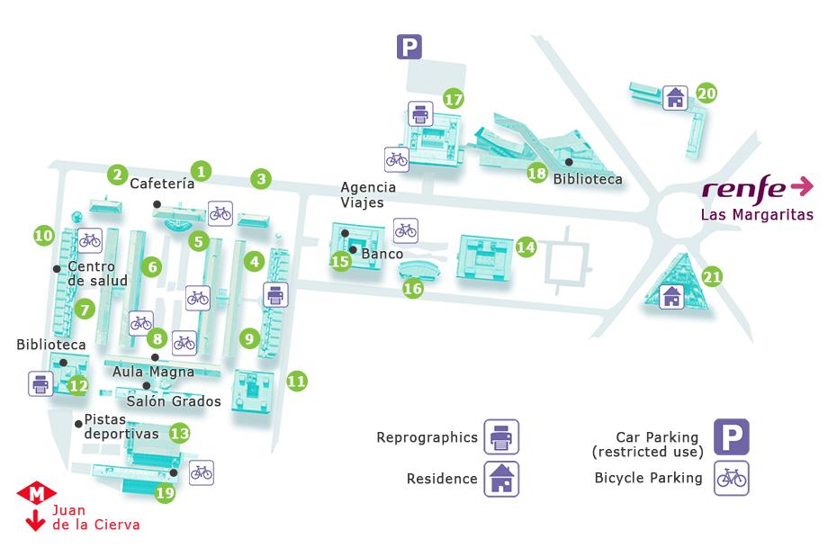 Plano del Campus de Getafe